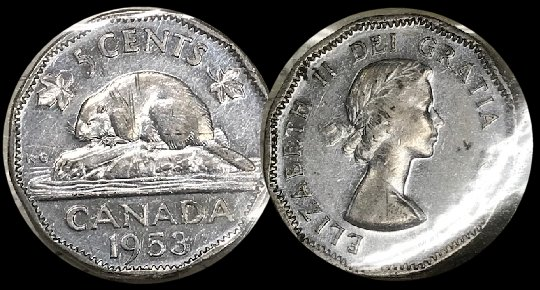 31 Available! Silver! 1945-C Newfoundland 5 Cent Nice! 1 Coin Only